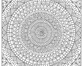 Henna Coloring Pages Etsy