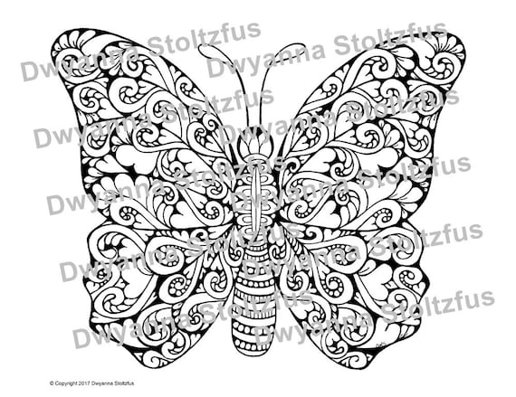 Painted Lady Butterfly Coloring Page - Coloring Home | 439x570