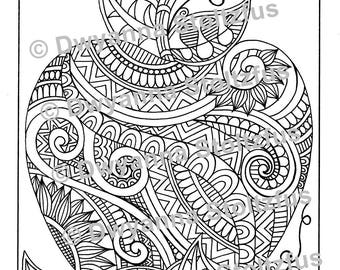 Detailed Apple Coloring Page JPG