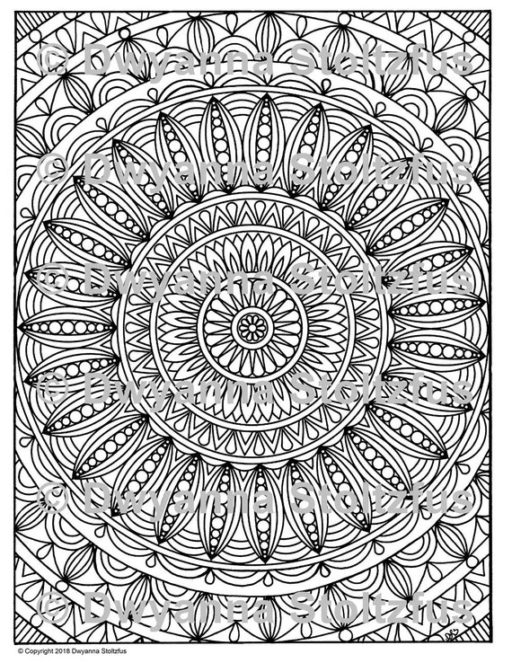 Stress Relieving Patterns Package 11 5 Coloring Pages JPG ...