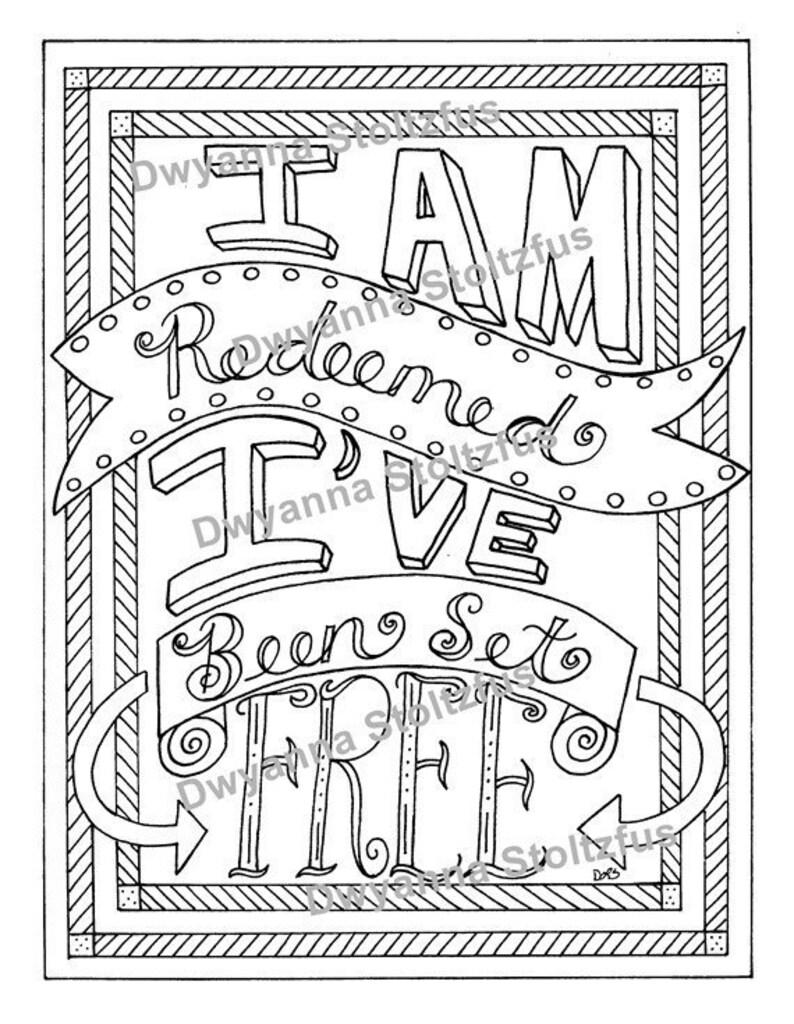 5 Scripture Coloring Pages Pdf Etsy