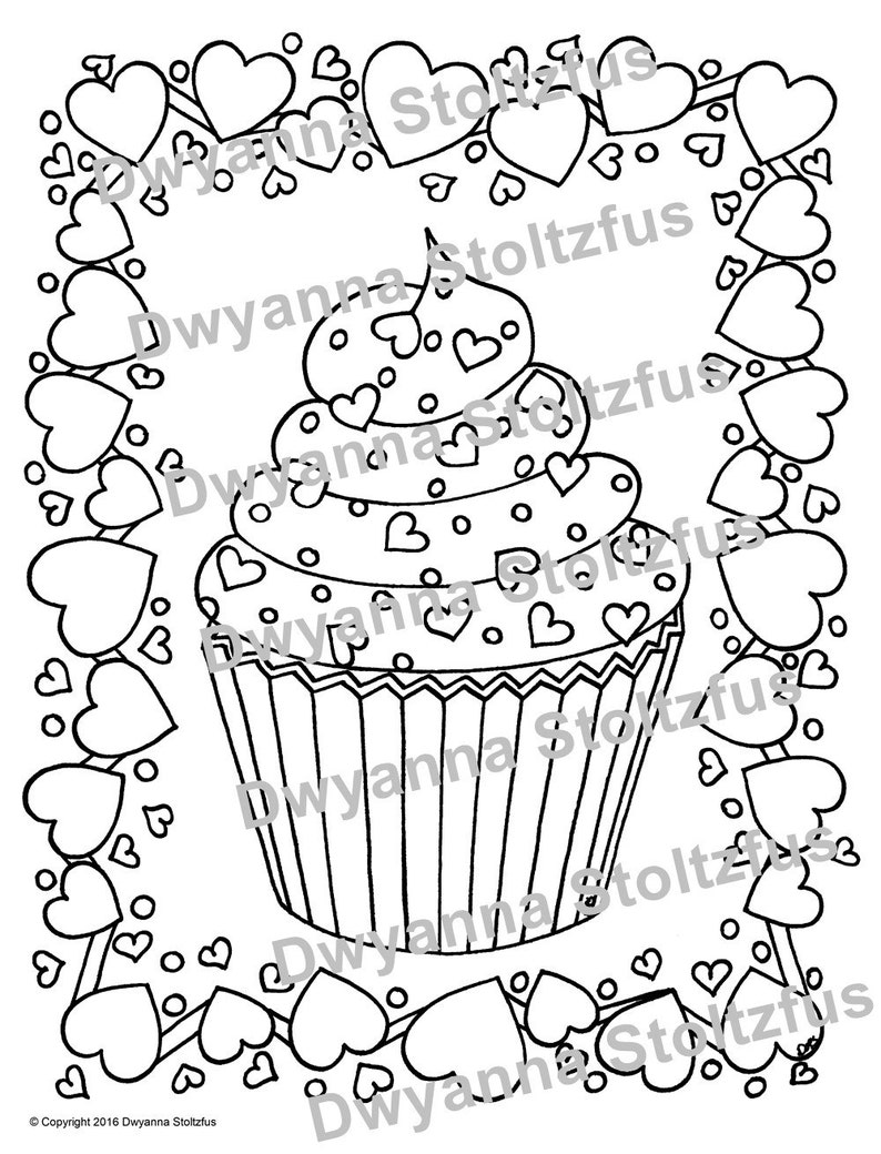 660 Cupcake Coloring Pages Pdf Images & Pictures In HD