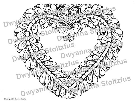 Heart Coloring Page JPG