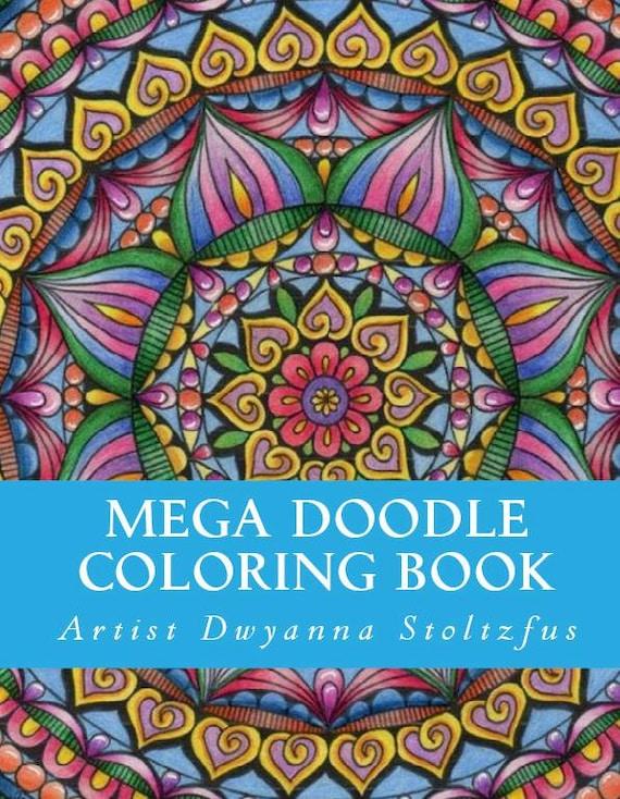Mega Doodle Coloring Book PDF 61 Coloring Pages   Etsy