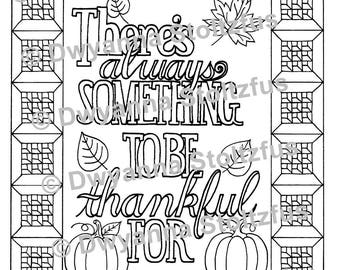 There's Always Something To Be Thankful For Coloring Page 2 JPG