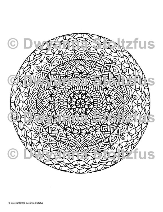 Extreme Stress Relief Mandala 6 Coloring Page Jpg