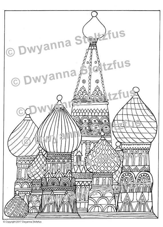 saint basils cathedral coloring pages - photo#18