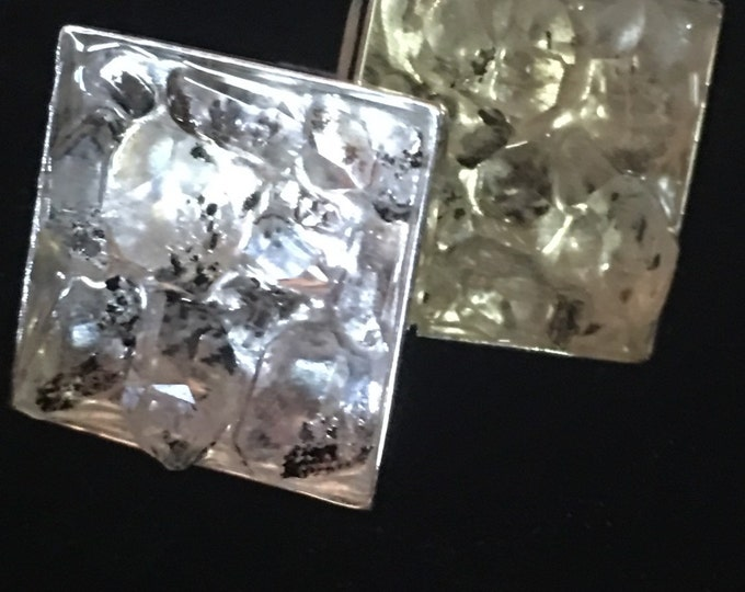 Herkimer Diamond Cuff Links