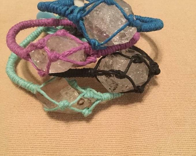 Braided Herkimer Friendship bracelet