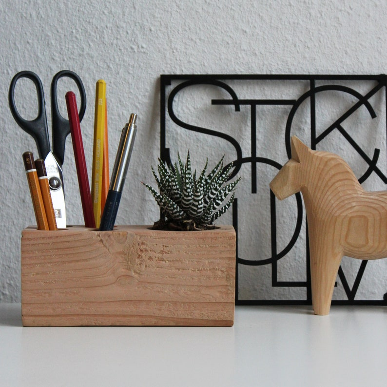 pen holder douglas cactus succulent stationery organizer image 0