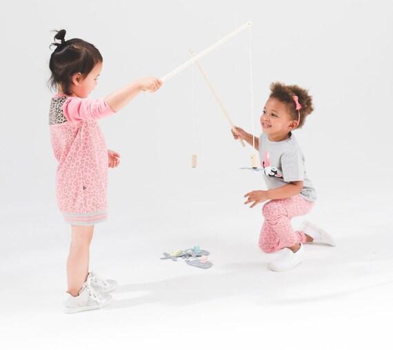 Handgemaakt vishengelspel met zeedieren,houten speelgoed, handgemaakt, fishing game, babyshower, Magnetic Fishing Pole, birthday gift, baby
