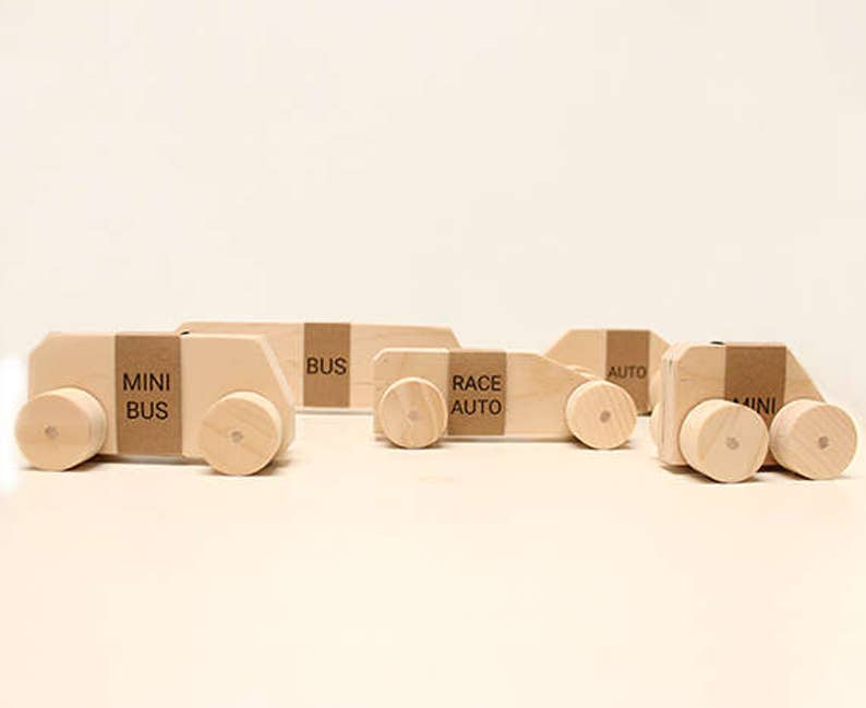 Handmade wooden toy cars image 0