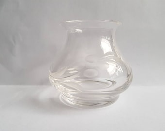 Little glass etched pot