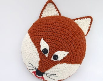 Fox Pillow Handmade Fox Pillow Crochet Fox Pillow   Etsy (With ...   270x340
