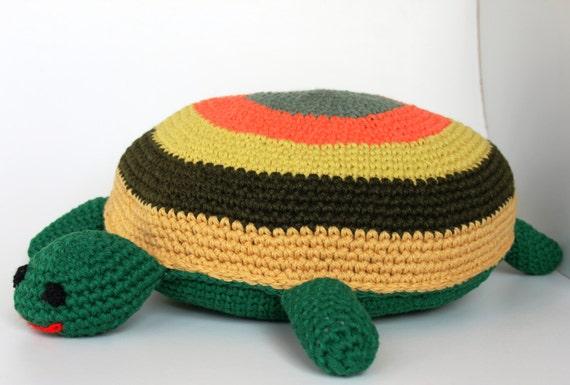 Rund Gehäkelte Schildkröte Kissen Runde Kissen Kissen Baby Etsy