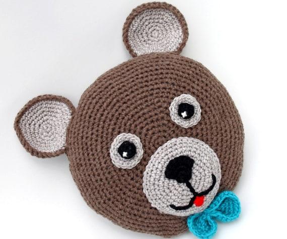 Teddy Bär Kissen Häkeln Runde Kissen Baby Kissen Etsy