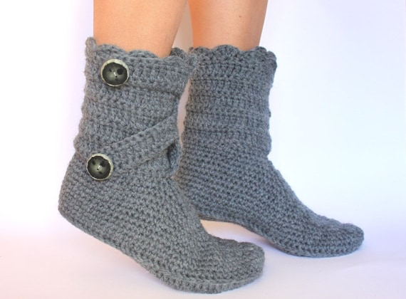 Häkeln Wolle Hausschuhe Pantoffeln Wolle Haus Schuhe Etsy