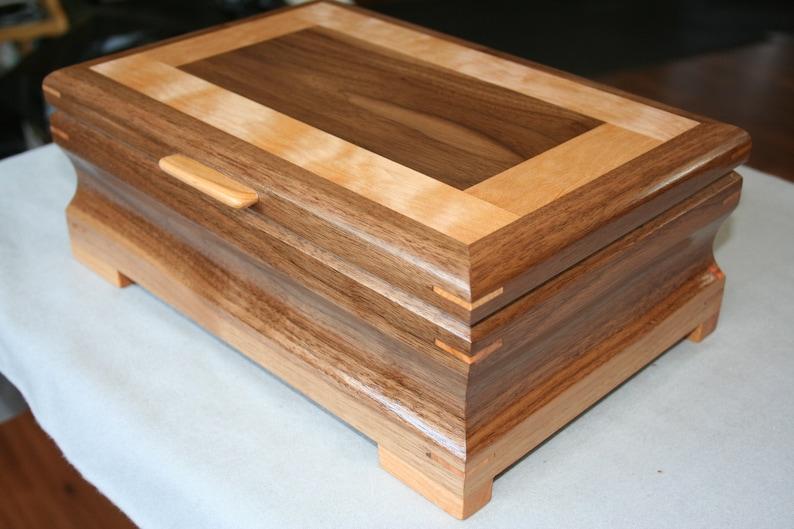 bddc9e2c5 Wooden Jewelry Box Wood Jewelry Box 5th Anniversary Gift | Etsy