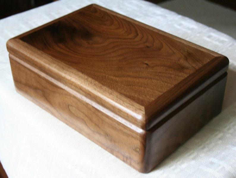 Jewelry Box Wood Jewelry Box 5th Anniversary Gift Wooden image 0