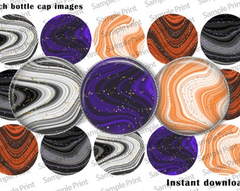 Halloween images - Halloween editable - Halloween BCI - Glitter Halloween - Digital images - 1 inch circles - Bottle cap images - Cabochons