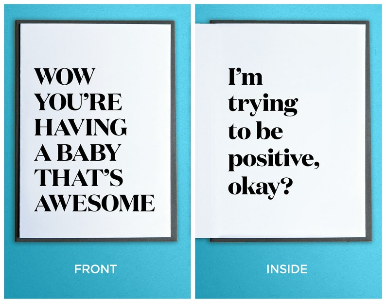 Funny Baby Card  New Baby Card  Expecting Baby Card  Funny image 0