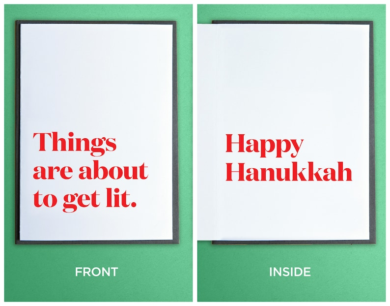 Funny Hanukkah Cards  Funny Holiday Cards  Unique Gift  image 0