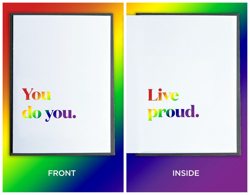 PRIDE Month Card  Rainbow Card  Gay Pride Card  LGBTQ Card image 0
