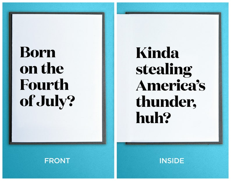 Funny July Fourth Card  Funny Birthday Card  America Card  image 0