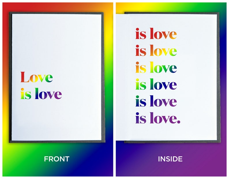 PRIDE Month Card  Rainbow Card  Gay Pride Card  LGBTQ Card image 0