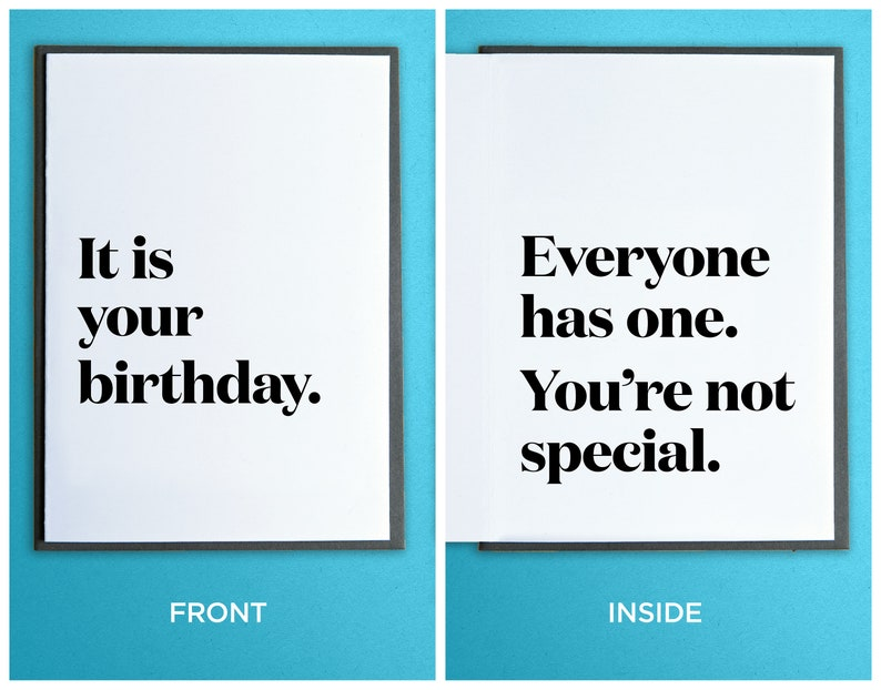 Funny Birthday Card  Friend Birthday Card  It is your image 0
