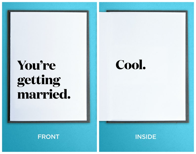 Engagement Gift  Funny Wedding Card  You're Getting image 0