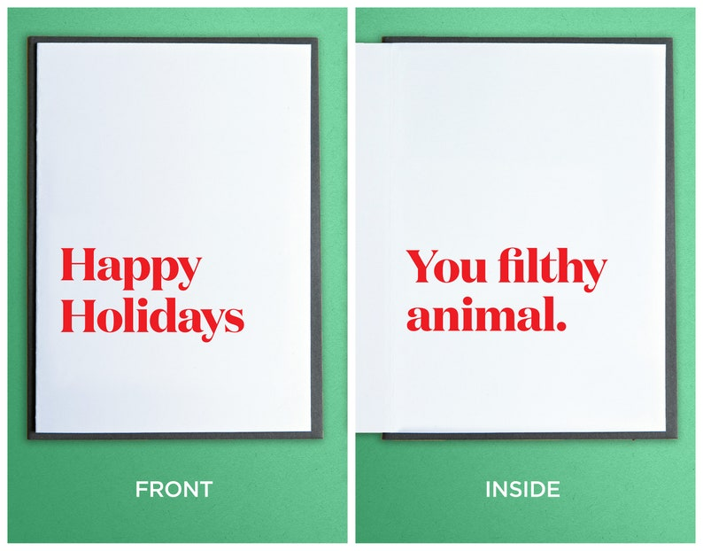 Funny Christmas Cards  Funny Holiday Cards  Unique Gift  image 0