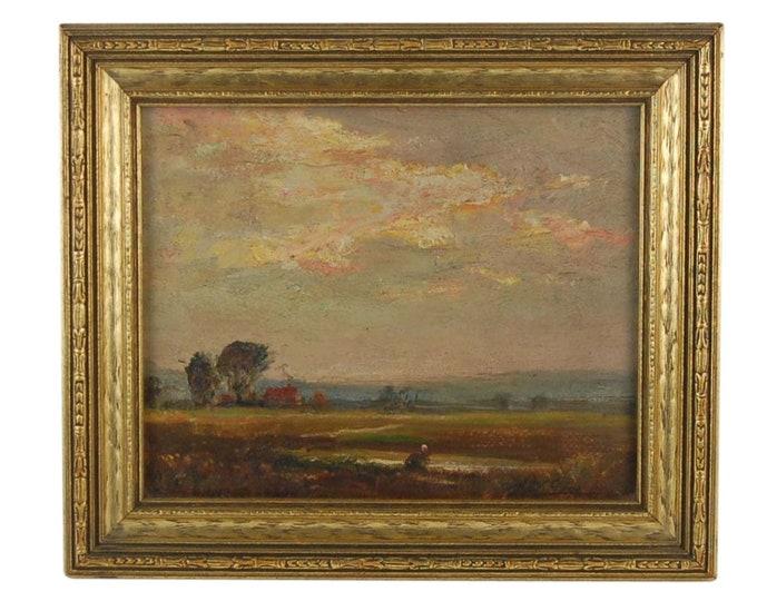 American Impressionist Landscape Oil Painting Joseph W. Gies Detroit Museum School