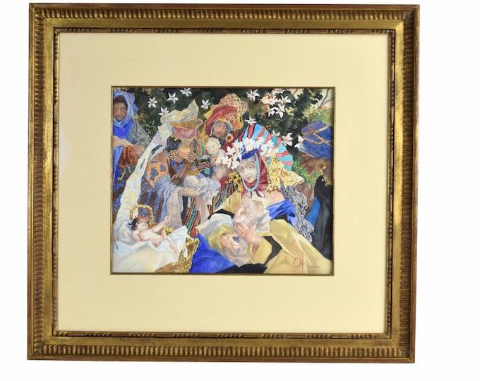 Olga Oreshnikov Allegorical Painting Women Sharing Babies Russian Israeli artist