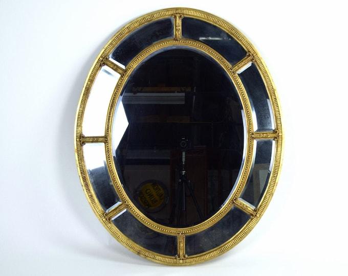 Vintage Friedman Bros The Burnside Adams Regency Gilt Wood Oval Mirror