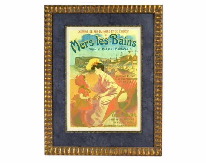 """Antique 1890's Jean Pene French Art Nouveau Poster """"Mers-les Bains"""""""