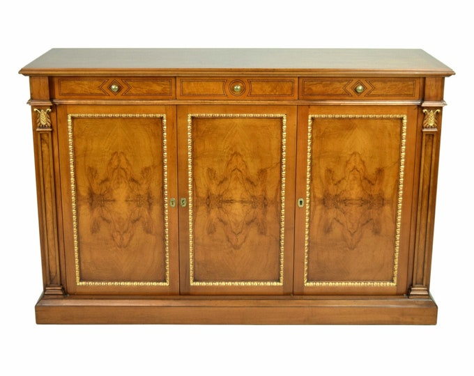 "Francesco Molon  ""New Empire"" Italian Burlwood Sideboard Buffet"
