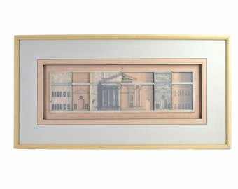 """Harris Strong """"Arcade"""" Neoclassical Architecture Dimensional Assemblage Wall Sculpture"""