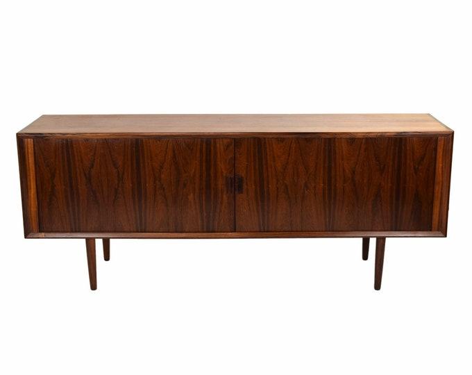 Mid Century Danish Modern Rosewood Sideboard Tambour Doors Svend Aage Larsen