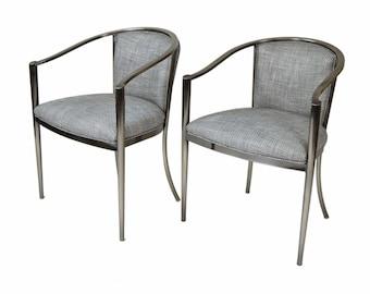 Pair Design Institute of America DIA Mid Century Modern Armchairs