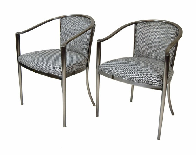 Pair Design Institute of America DIA Mid Century Modern Armchairs
