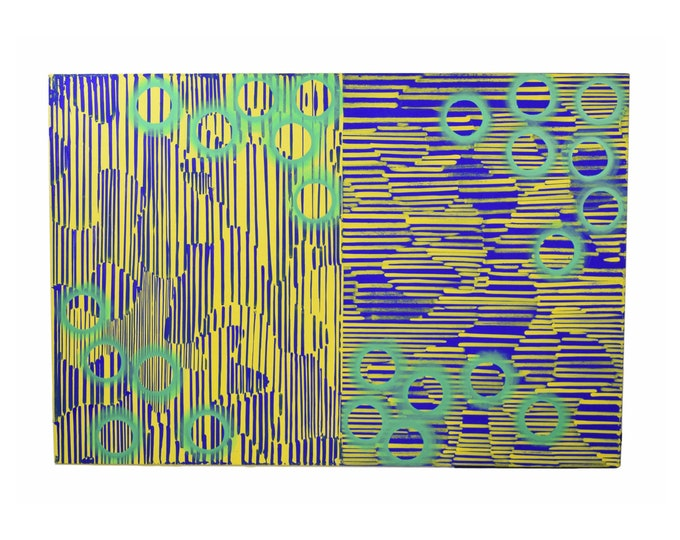 1980's Abstract Image #13 Oil Painting sgnd Karsten Wittke PS1 NYC & Berlin