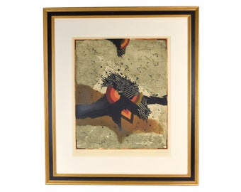 """Georges Dussau 1975 Abstract Lithograph """"Disorder for Emily"""" L/E Signed"""