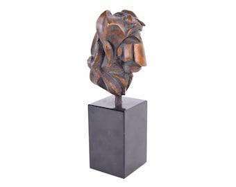 Vintage Mid-Century Modern Brutalist Abstract Bronze Heart Sculpture numbered #3