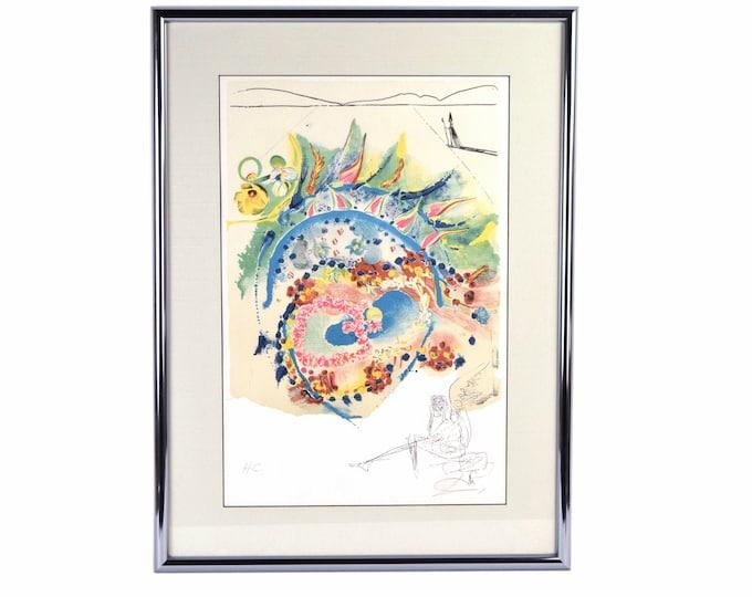 "Salvador Dali ""Bleuet"" aka ""la Bluette"" sgnd Hors Commerce Edition Color Etching"