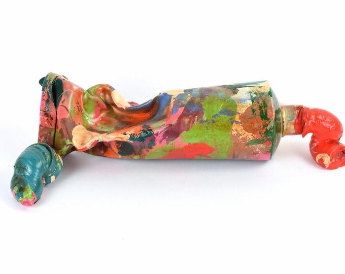 David Soman 2012 Metal Sculpture Multicolor Jumbo Oozing Paint Tube