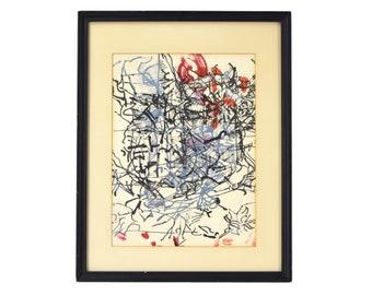 Jean-Paul Riopelle Quebecois Abstract Color Lithograph Derriere le Miroir