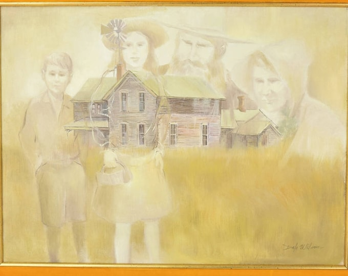 Dale Wilson Plains Ghost Town Haunted House Painting with Spirits