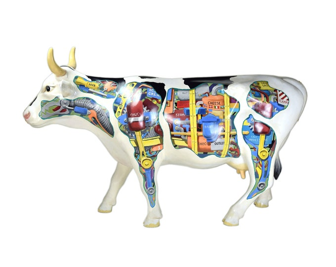 "Ken Kouba ""Industrial Cow"" Life Sized Chicago 1999 ""Cows on Parade"""