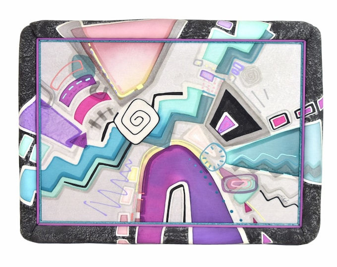 Big Fun 1980's Geometric Abstract Padded Textile Painting Wall Sculpture